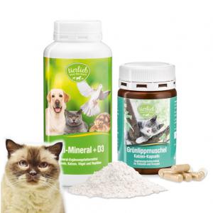 티어리브 멀티 미네랄+D3 와 초록(그린) 홍합 애완 고양이 90캡슐