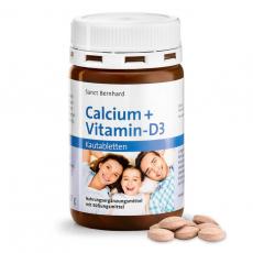 칼슘 + 비타민 D3 씹을 수있는 타블렛